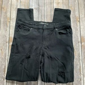 Distressed Express Jeggings